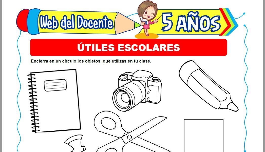 Muestra de la Ficha de Útiles Escolares para Niños de 5 Años