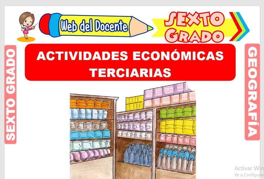 Ficha de Actividades Económicas Terciarias para Sexto Grado de Primaria