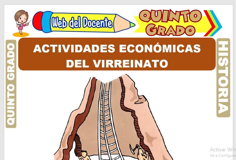 Ficha de Actividades Económicas del Virreinato para Quinto Grado de Primaria