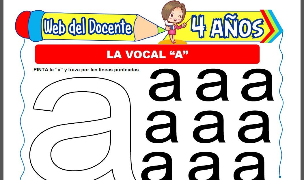 Actividades con la Vocal A para Niños de 4 Años