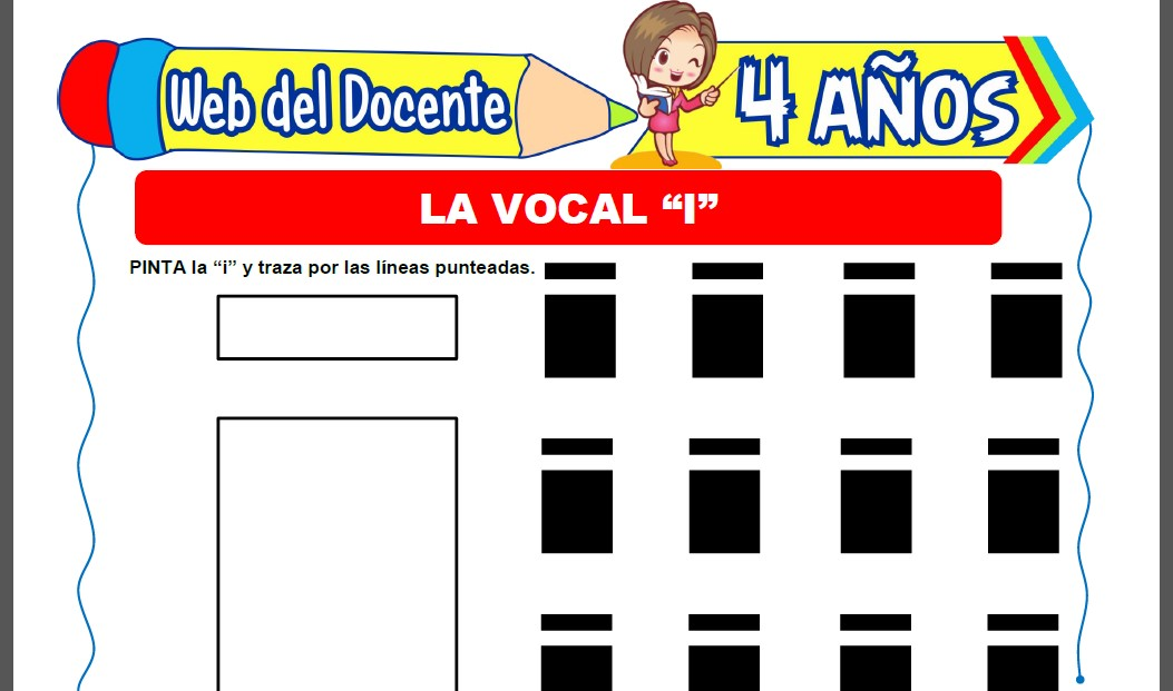 Actividades con la Vocal I para Niños de 4 Años