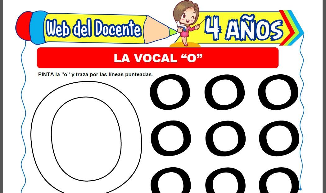 Actividades con la Vocal O para Niños de 4 Años