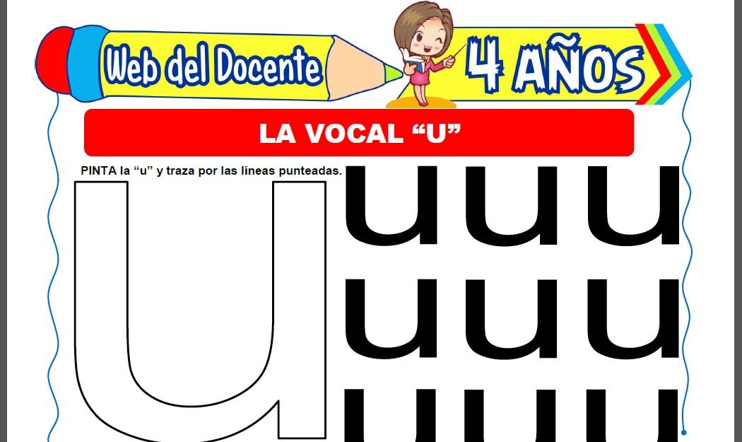 Actividades con la Vocal U para Niños de 4 Años