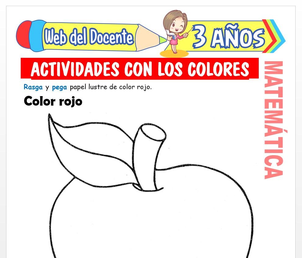 Ficha de Actividades con los Colores para Niños de 3 AÑOS