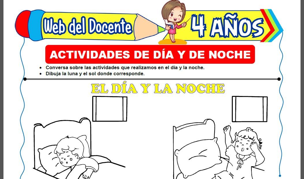 Actividades de Día y de Noche para Niños de 4 Años