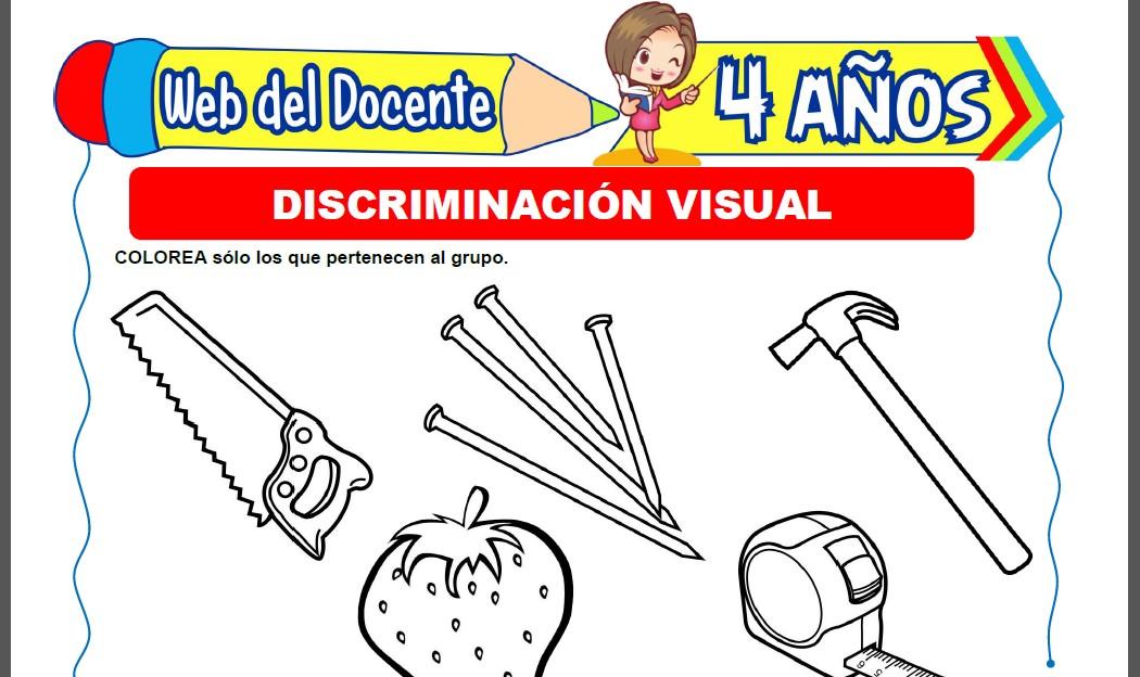 Actividades de Discriminación Visual para Niños de 4 Años