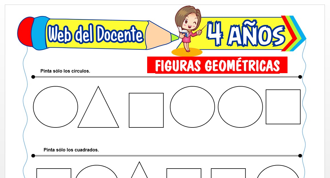 Ficha de Actividades de Figuras Geométricas para Niños de 4 AÑOS