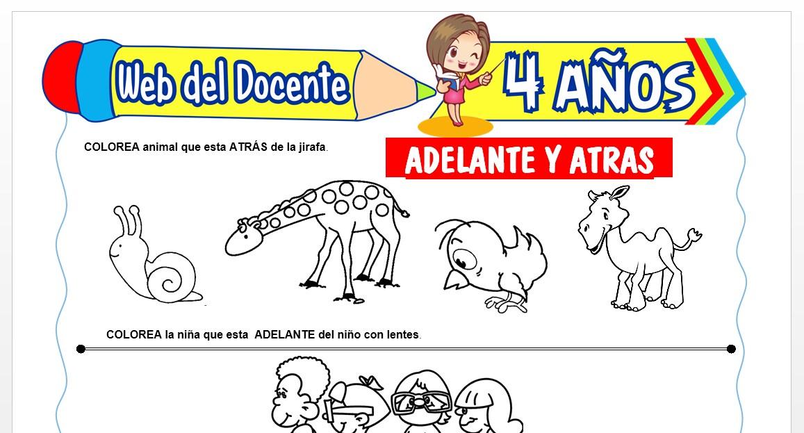 Ficha de Adelante y Atrás para Niños de 4 AÑOS