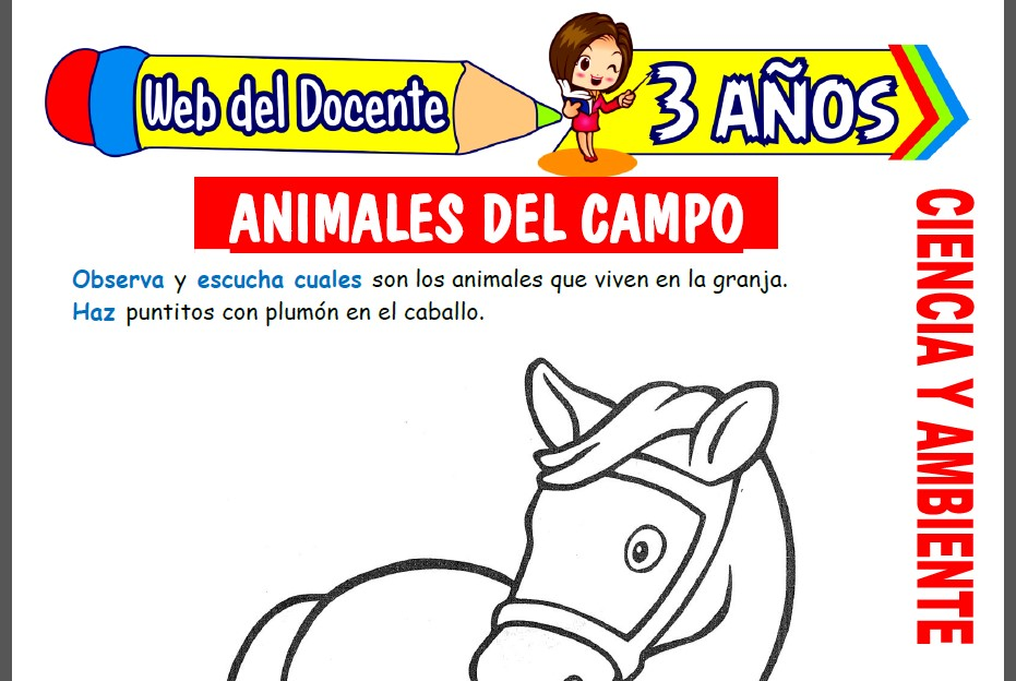 Animales del Campo para Niños de 3 Años