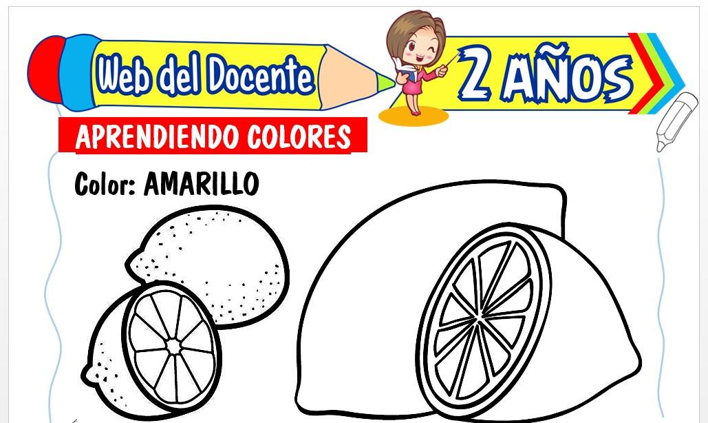 Ficha de Aprendiendo los Colores para Niños de 2 Años