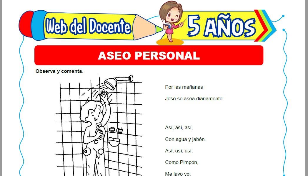 Muestra de la Ficha de Aseo Personal para Niños de 5 Años