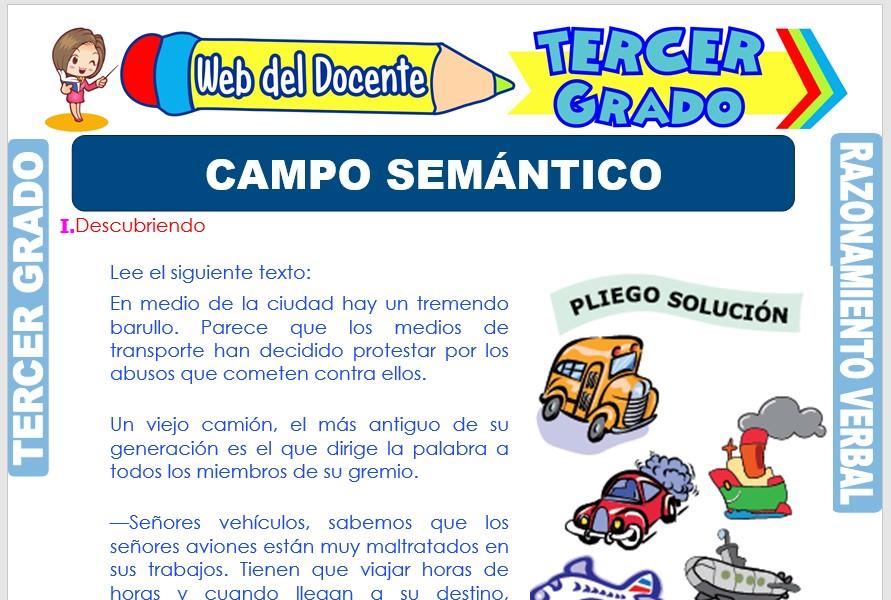 Ficha de Campo Semántico para Tercer Grado de Primaria