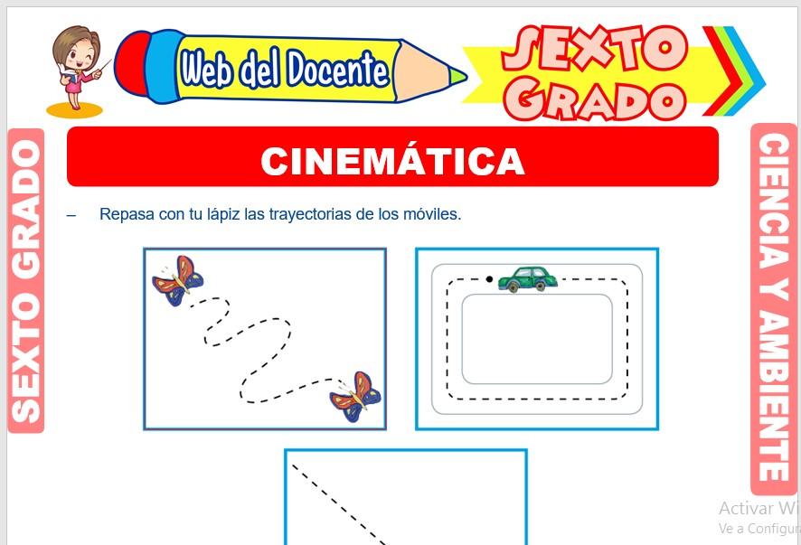 Ficha de Cinemática para Sexto Grado de Primaria