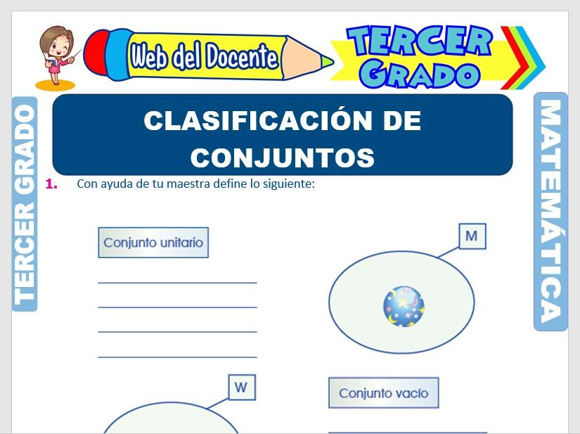 Ficha de Clasificación de Conjuntos para Tercer Grado de Primaria