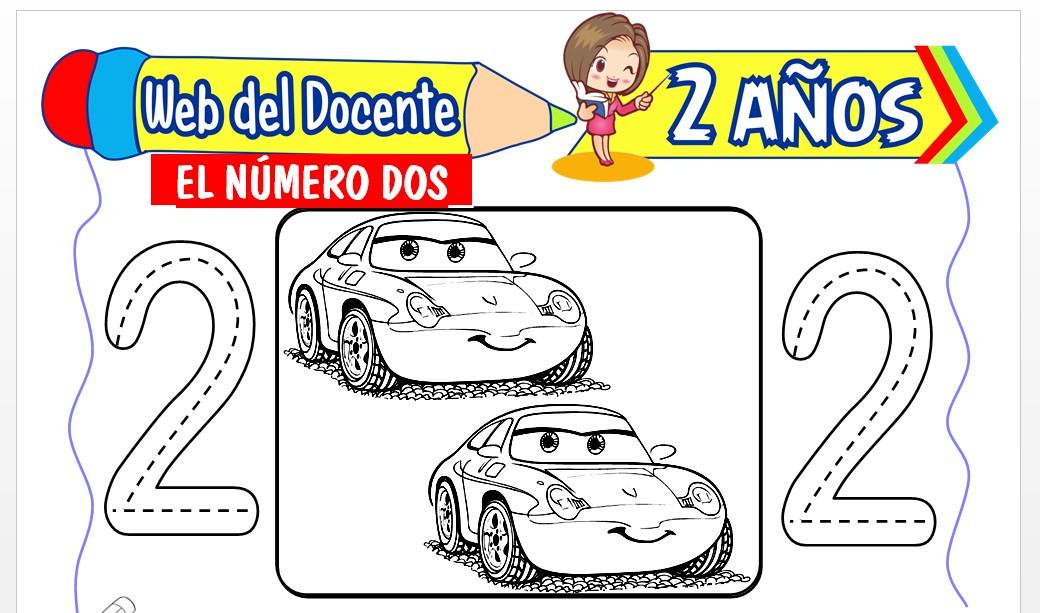 Ficha de Conociendo el Número Dos para Niños de 2 Años
