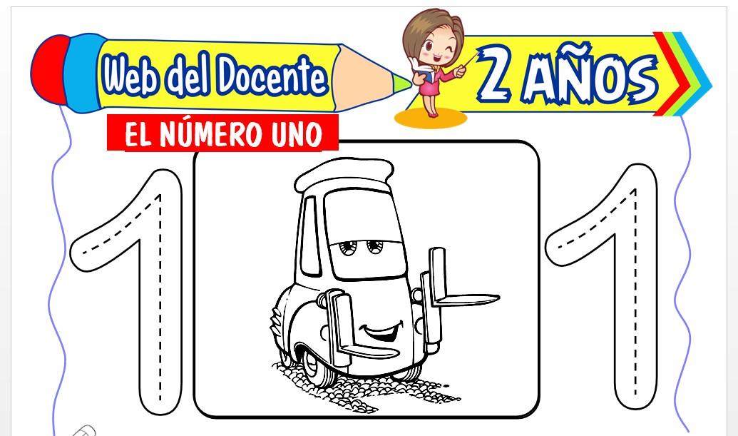 Ficha de Conociendo el Número Uno para Niños de 2 Años