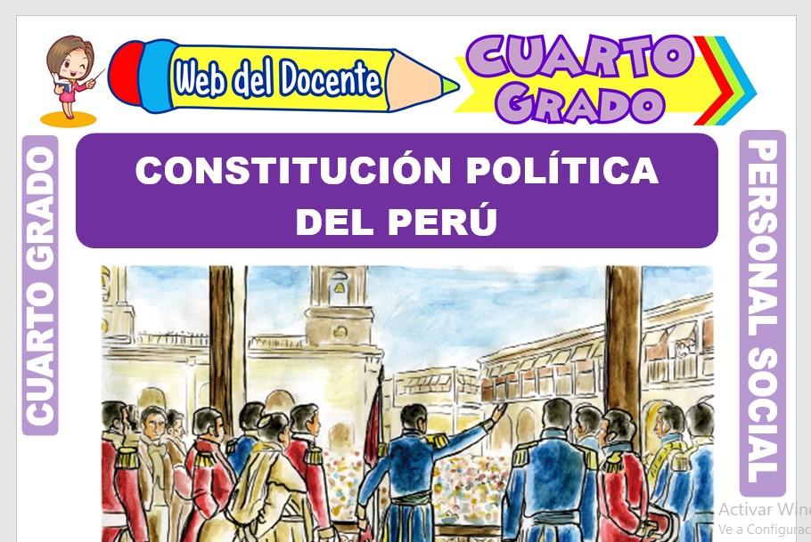 Ficha de Constitución Política del Perú para Cuarto Grado de Primaria