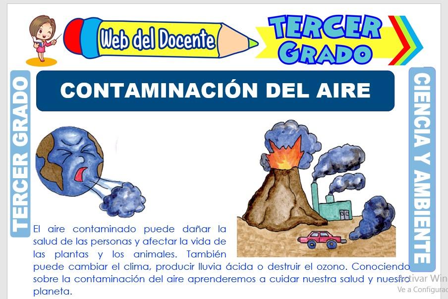 Ficha de Contaminación del Aire para Tercer Grado de Primaria