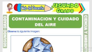 Ficha de Contaminación y Cuidado del Aire para Segundo Grado de Primaria