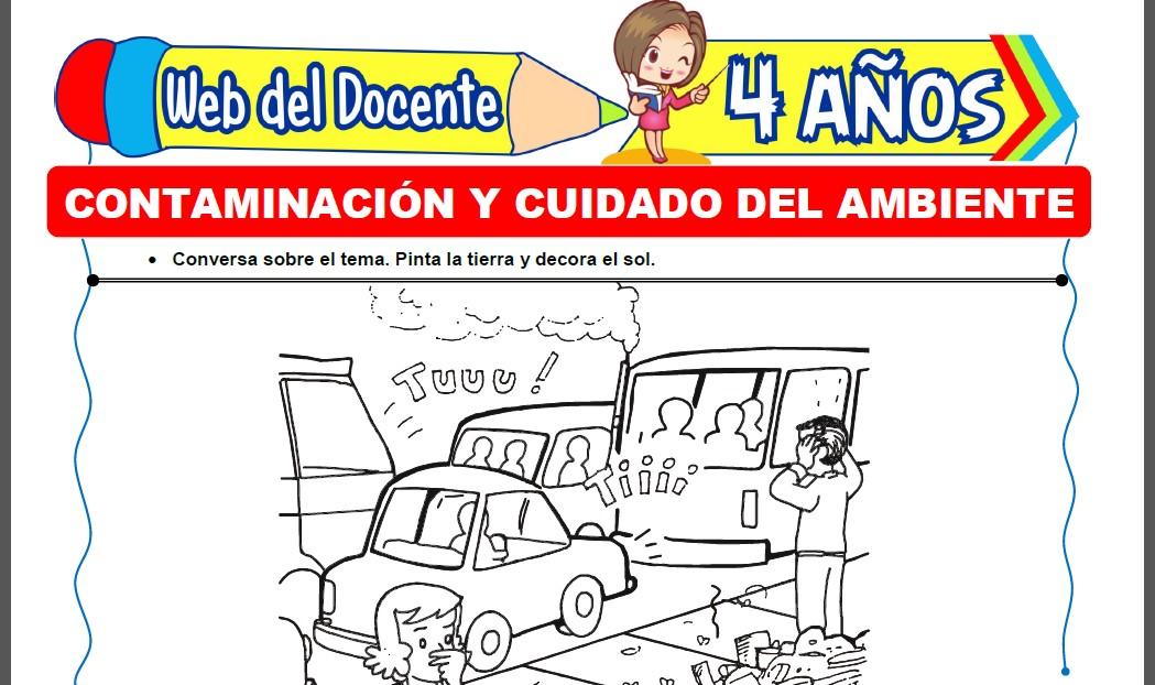 Contaminación y Cuidado del Ambiente para Niños de 4 Años