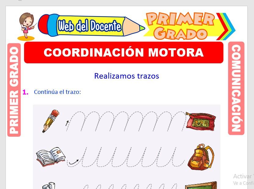 Ficha de Coordinación Motora Fina para Primero de Primaria