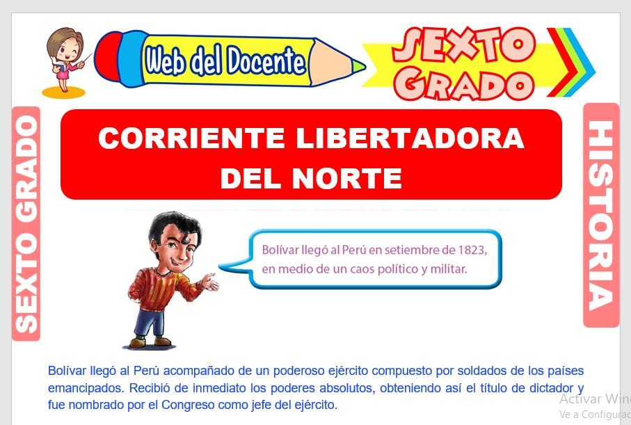 Ficha de Corriente Libertadora del Norte para Sexto Grado de Primaria