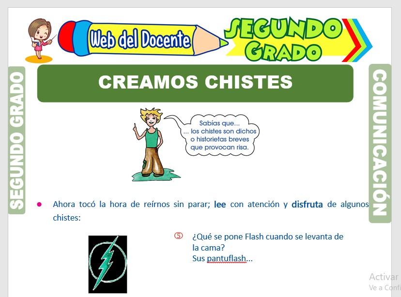 Ficha de Creación de Chistes para Segundo Grado de Primaria