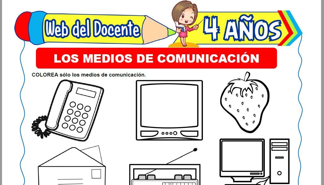 Muestra de la Ficha de Cuales son los Medios de Comunicación para Niños de 4 Años