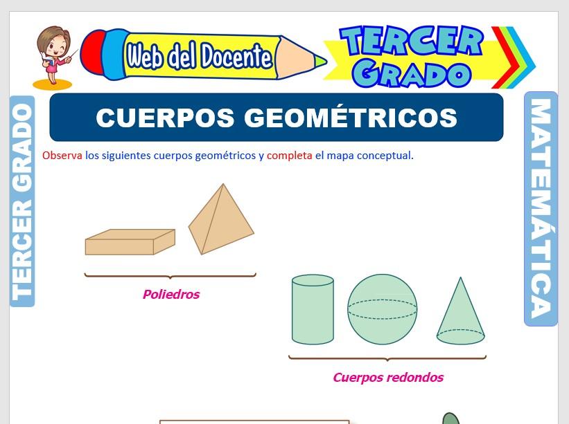 Ficha de Cuerpos Geométricos para Tercer Grado de Primaria
