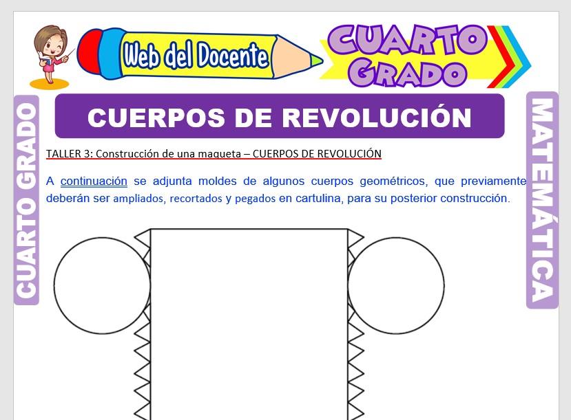 Ficha de Cuerpos de Revolución para Cuarto Grado de Primaria