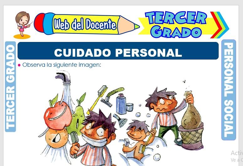 Ficha de Cuidado Personal para Tercer Grado de Primaria