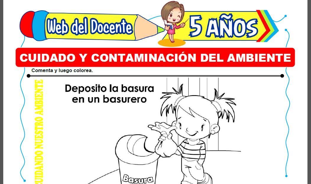 Cuidado y Contaminación del Ambiente para Niños de 5 Años