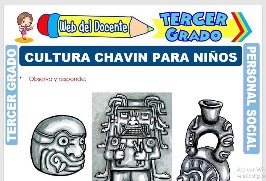 Ficha de Cultura Chavín para Niños para Tercer Grado de Primaria