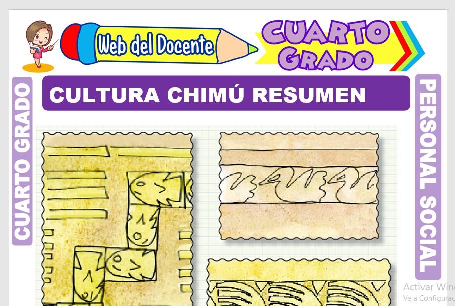Ficha de Cultura Chimú Resumen para Cuarto Grado de Primaria
