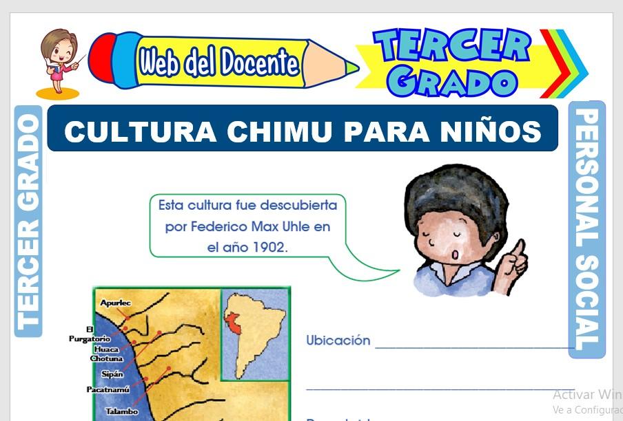 Ficha de Cultura Chimu para Niños para Tercer Grado de Primaria
