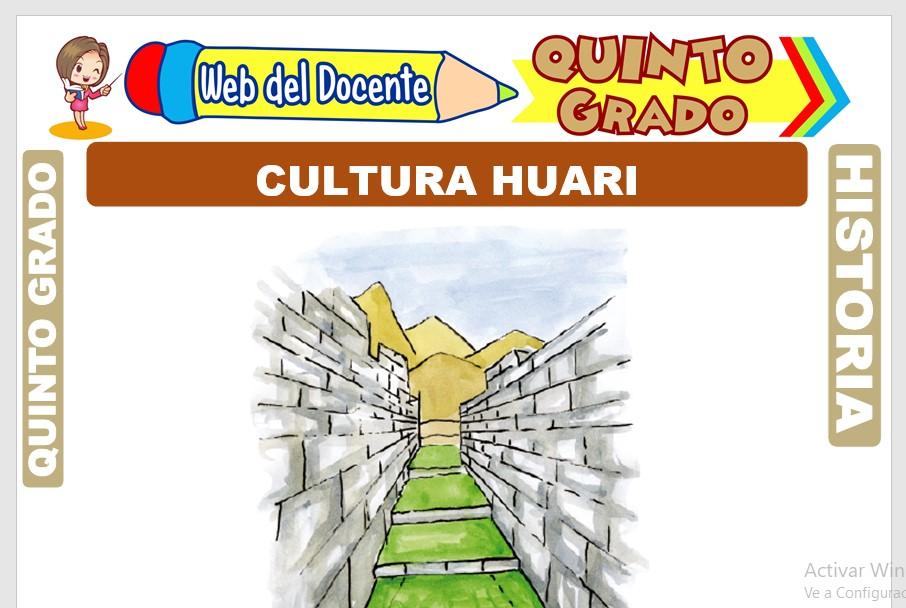 Ficha de Cultura Huari para Quinto Grado de Primaria