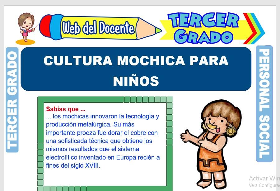 Ficha de Cultura Mochica para Niños para Tercer Grado de Primaria