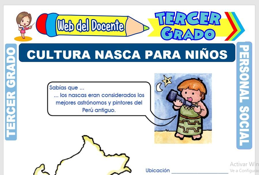 Ficha de Cultura Nasca para Niños para Tercer Grado de Primaria