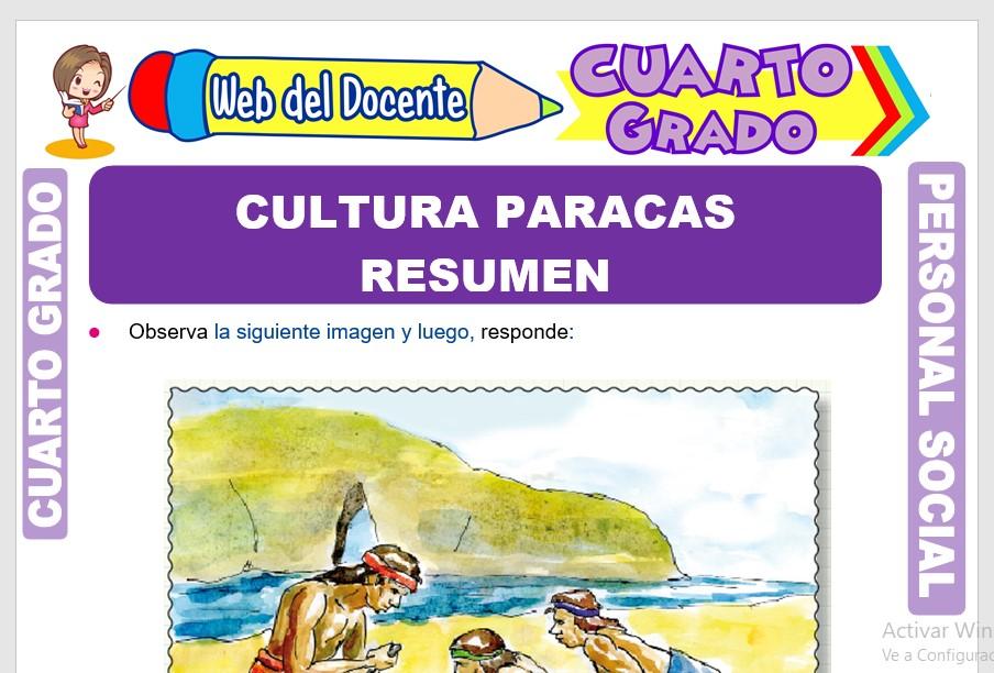 Ficha de Cultura Paracas Resumen para Cuarto Grado de Primaria