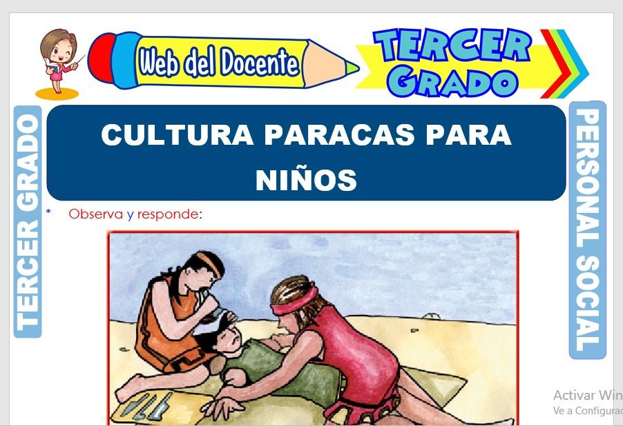 Ficha de Cultura Paracas para Niños para Tercer Grado de Primaria