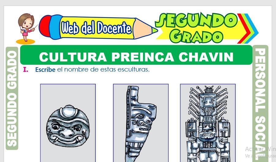 Ficha de Cultura Preinca Chavín para Segundo Grado de Primaria