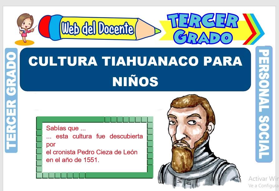Ficha de Cultura Tiahuanaco para Niños para Tercer Grado de Primaria
