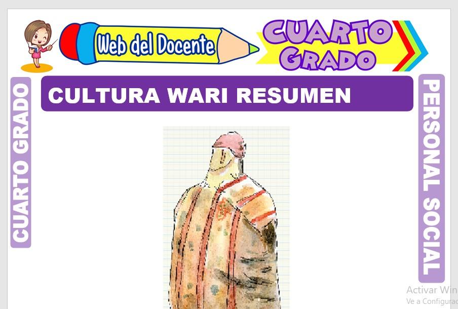 Ficha de Cultura Wari Resumen para Cuarto Grado de Primaria