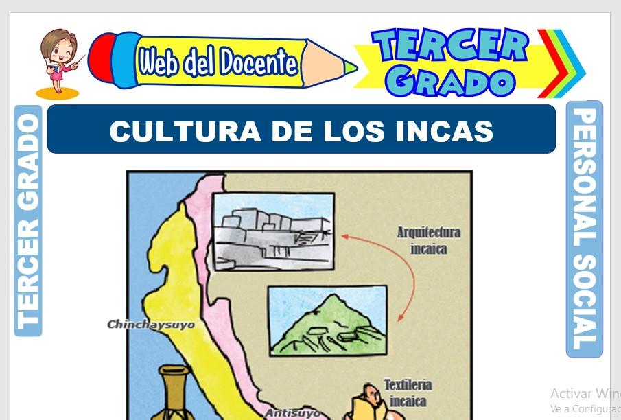 Ficha de Cultura de los Incas para Tercer Grado de Primaria