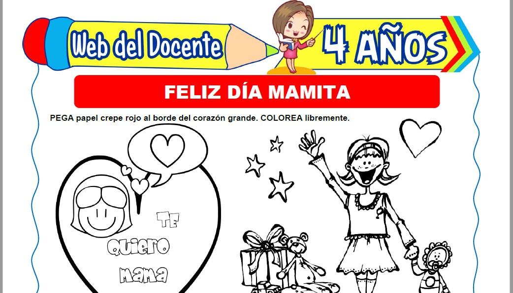 Muestra de la Ficha de Día de la Madre para Niños de 4 Años
