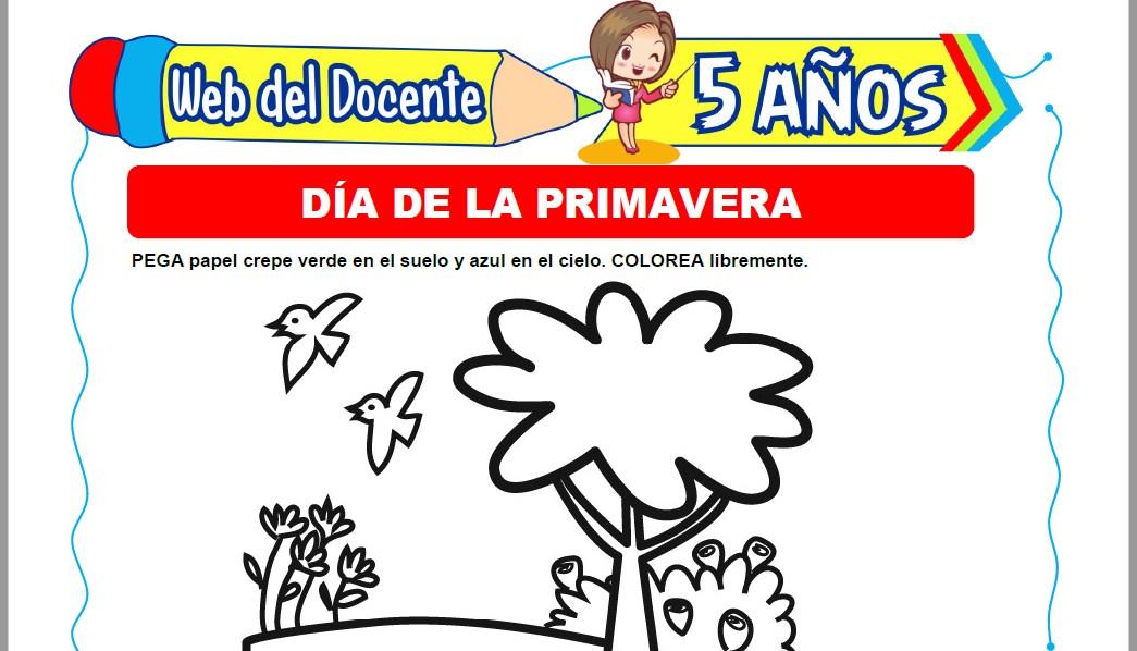 Muestra de la Ficha de Día de la Primavera para Niños de 5 Años