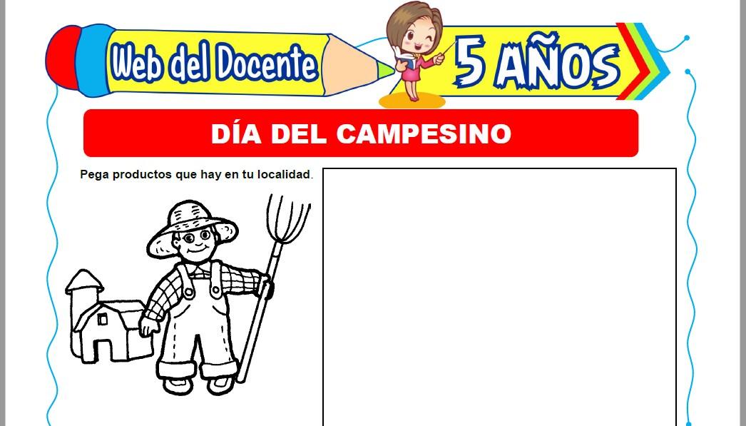 Muestra de la Ficha de Día del Campesino para Niños de 5 Años