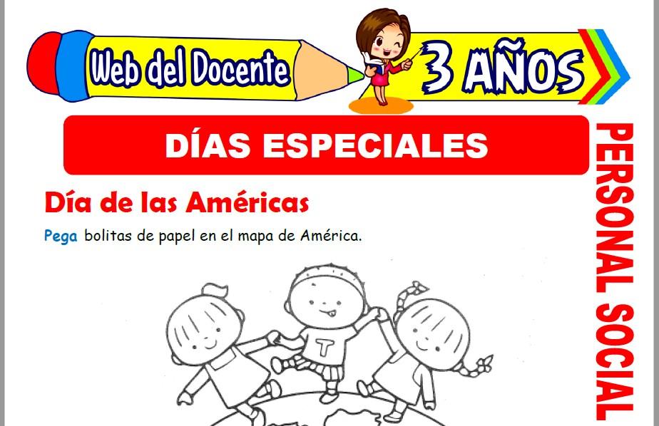 Muestra de la Ficha de Días Especiales para Niños de 3 Años