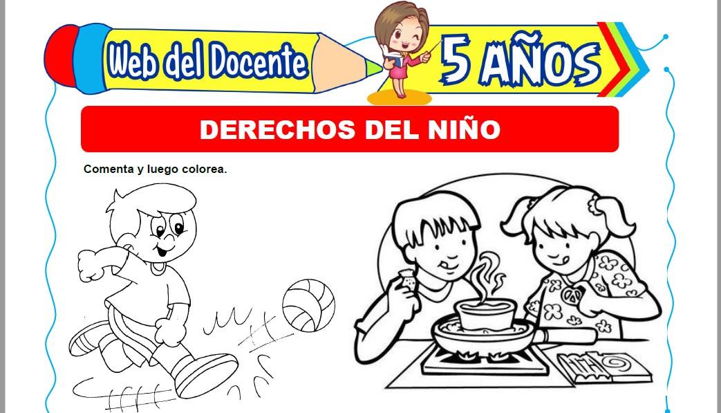 Muestra de la Ficha de Derechos del Niño para Niños de 5 Años