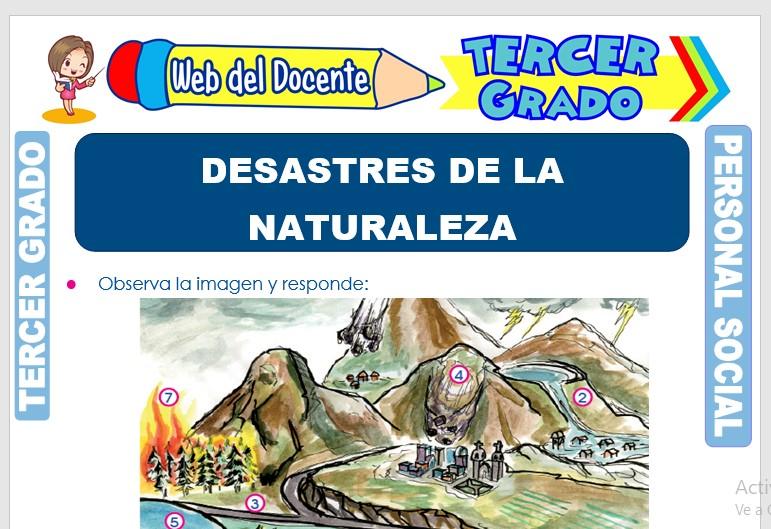 Ficha de Desastres de la Naturaleza para Tercer Grado de Primaria